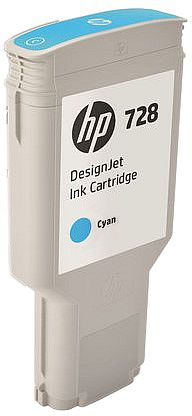 HP 728 300-ml Cyan DesignJet Ink Cartridge