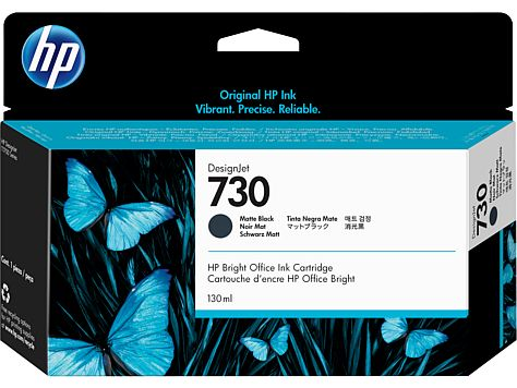 HP 730 130-ml Matte Black Ink Crtg