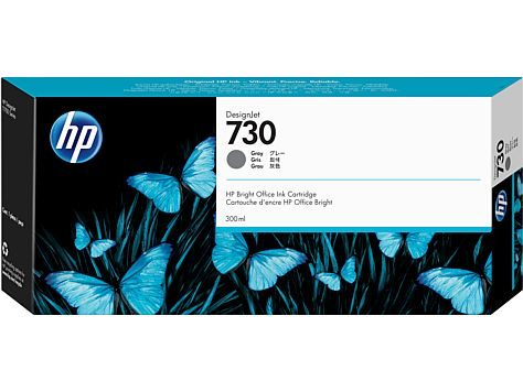 HP 730 300-ml Gray Ink Cartridge