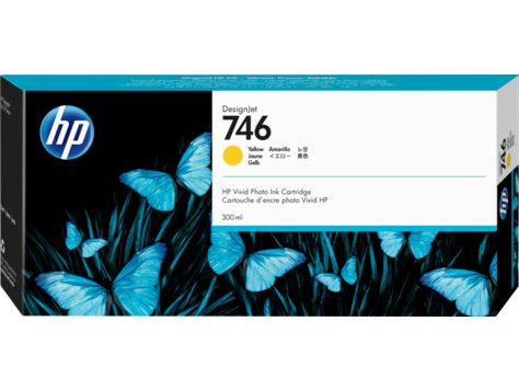 HP 746 300-ml Yellow DesignJet Ink Cartridge