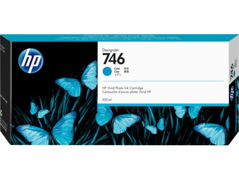 HP 746 300-ml Cyan DesignJet Ink Cartridge