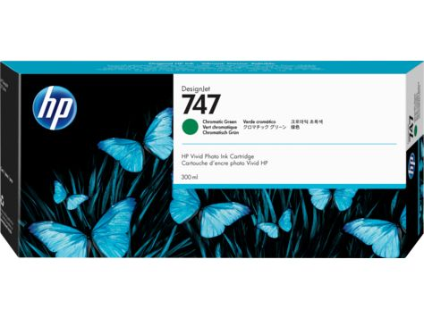 HP 747 300-ml Chromatic Green DesignJet Ink Cartridge