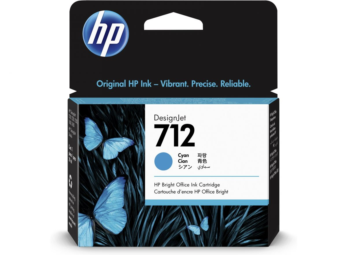 HP 712 29-ml Cyan DesignJet Ink Cartridge